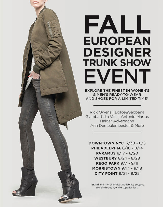 Fall European Designer Trunk Show