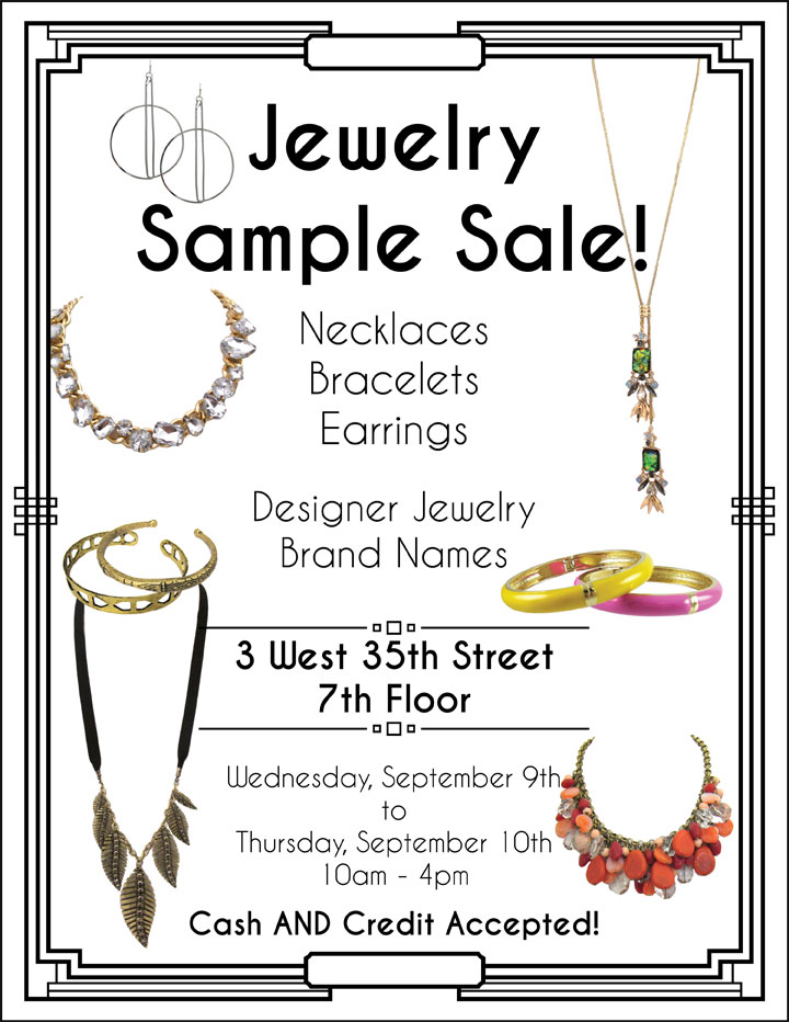 Fashion Jewelry Sample Sale
