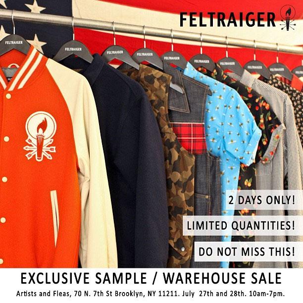 Feltraiger Sample Sale