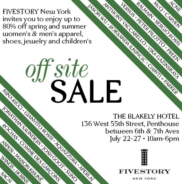Fivestory Bi-Annual Off-Site Sale