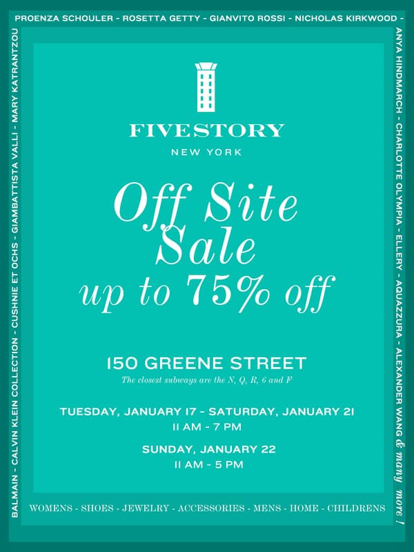 Fivestory Off-Site Sale
