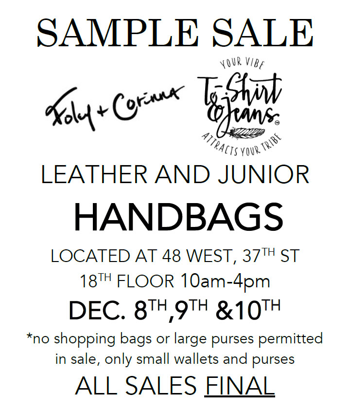 Foley+Corinna and T-Shirt & Jeans Sample Sale