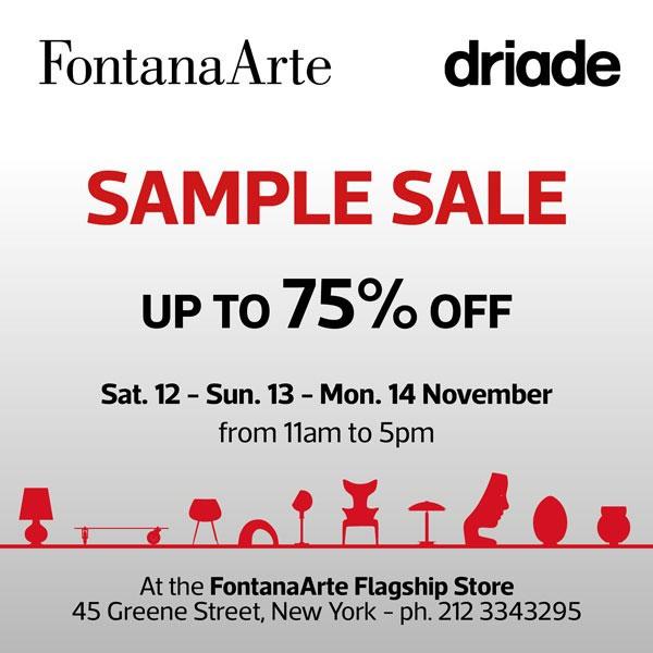 Fontana Arte & Driade Sample Sale