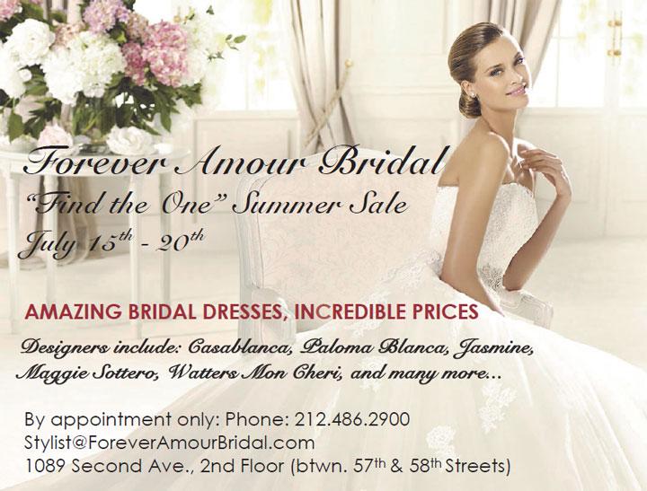 Forever Amour Bridal Sample Sale