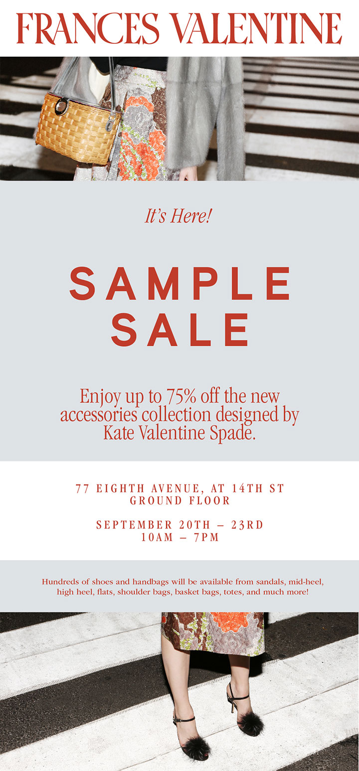 Frances Valentine Sample Sale