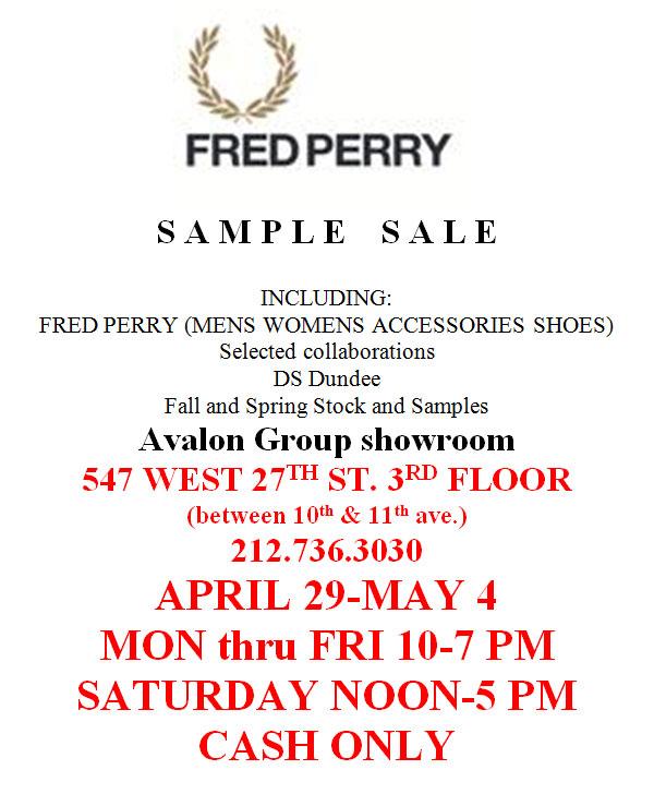 Fredy Perry Semi-Annual Sample Sale