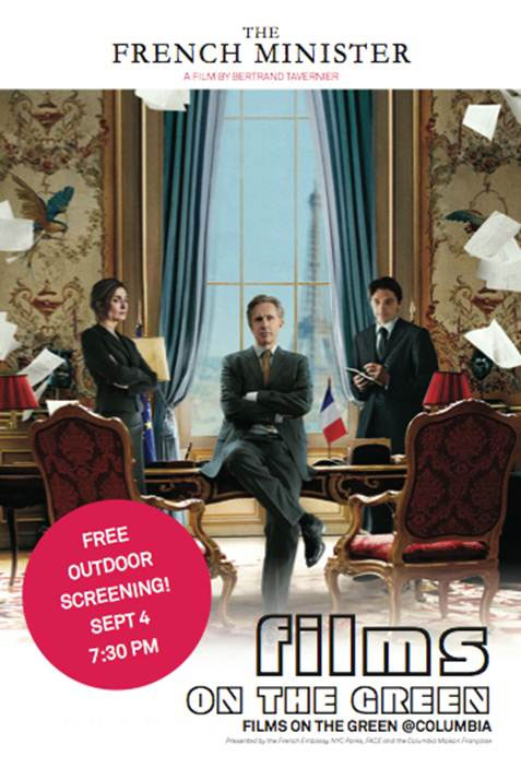 Free Outdoor French Film: The French Minister @ Columbia University