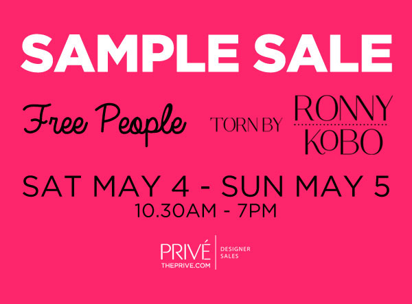 Free People & Torn by Ronny Kobo Sample Sale