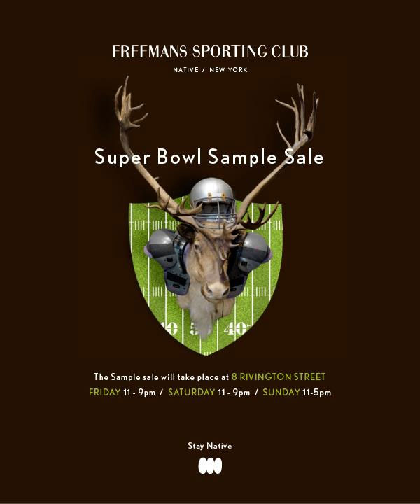 Freemans Sporting Club Sample Sale