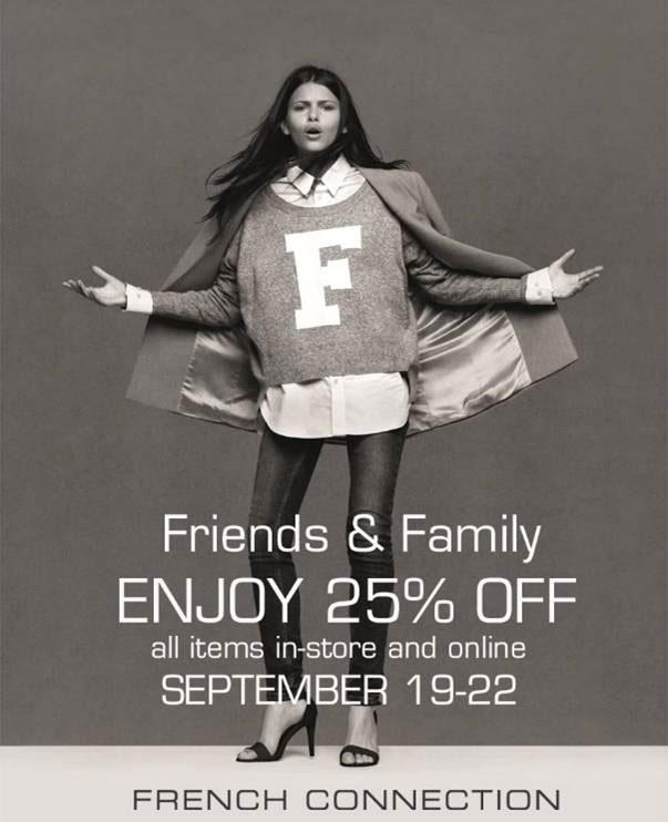 French Connection Friends & Family Sale