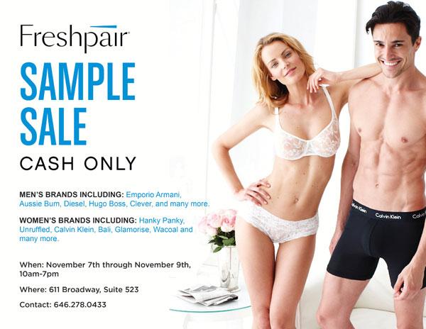 Freshpair Sample Sale