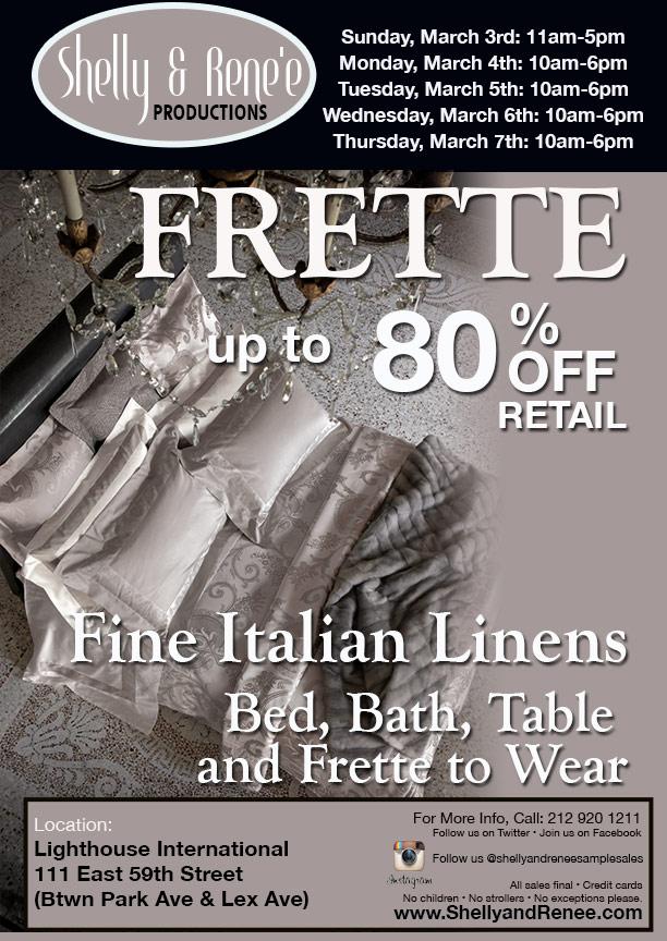 Frette Sample Sale