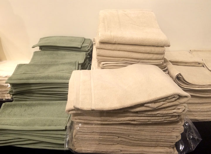 Bath towels are $20, hand towels are $5, and wash cloths are $2