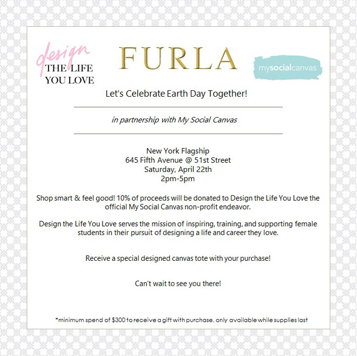 Furla Earth Day Charity Event