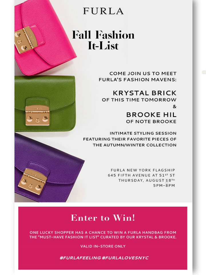Furla Fall Fashion It-List Event