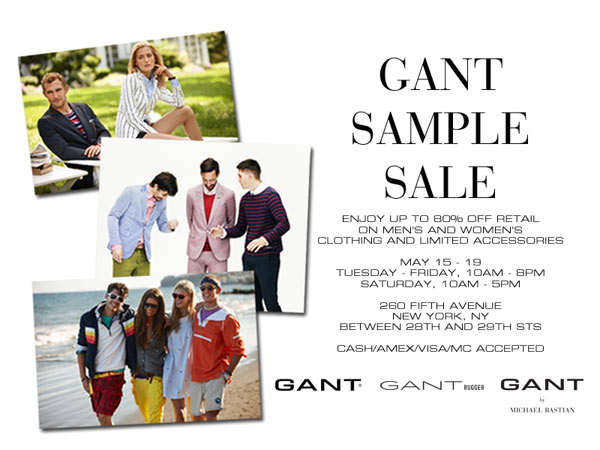 Gant Sample Sale