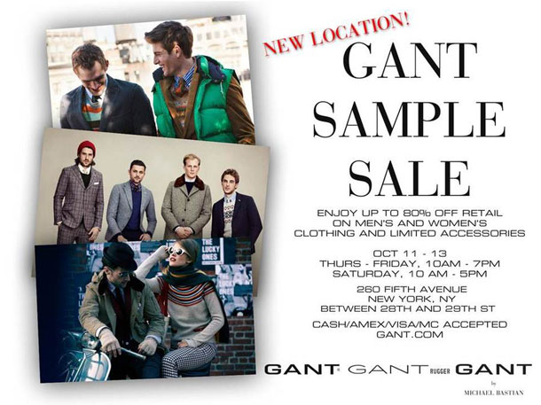 Gant Sample Sale