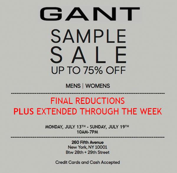 GANT Summer Sample Sale