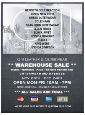 G-III Leather and Outerwear Warehouse Sale