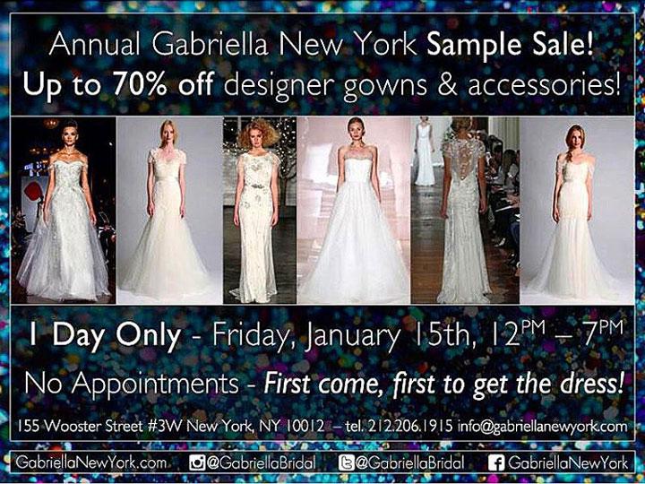 Gabriella New York Sample Sale