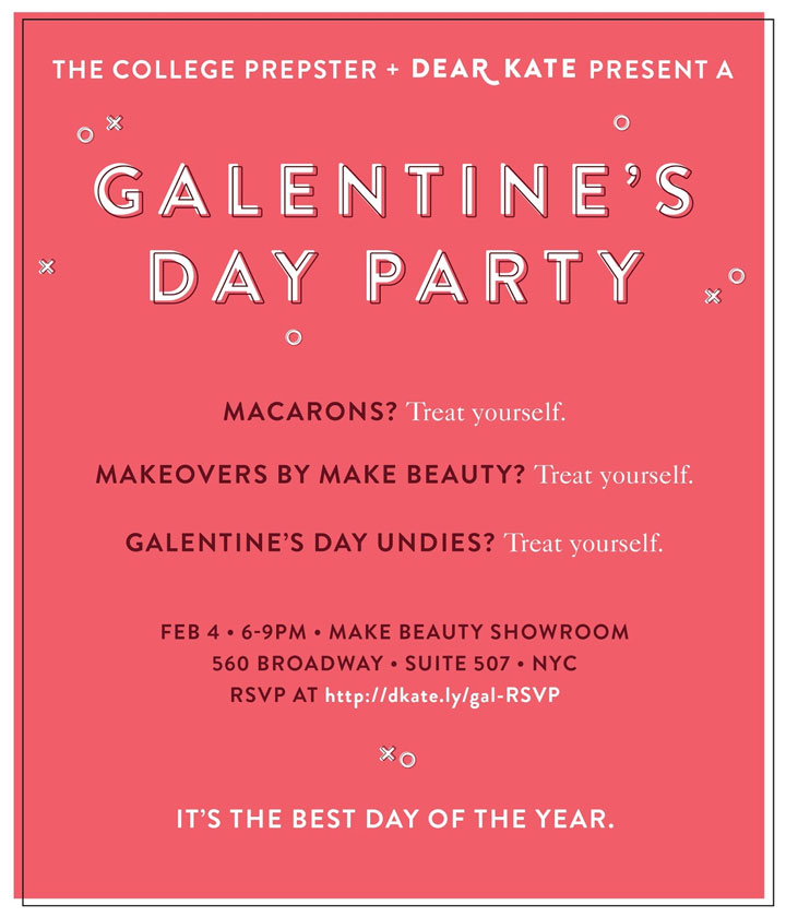 Galentine's Day Party with Dear Kate and The College Prepster