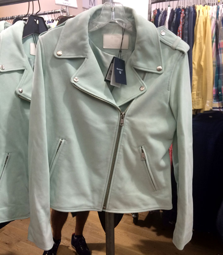 Gant Sample Sale Mint Leather Jacket for $300