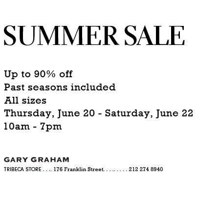 Gary Graham Sample Sale