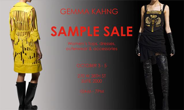 Gemma Kahng Sample Sale