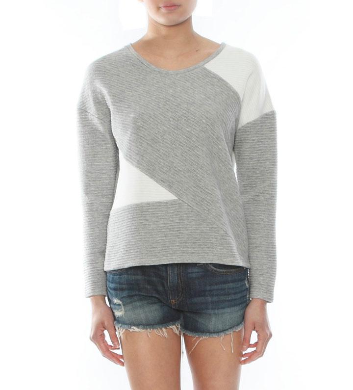 Generation Love Cooper Contrast Rib Sweatshirt