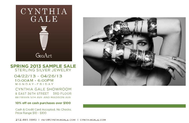 GeoArt by Cynthia Gale Spring 2013 Sample Sale