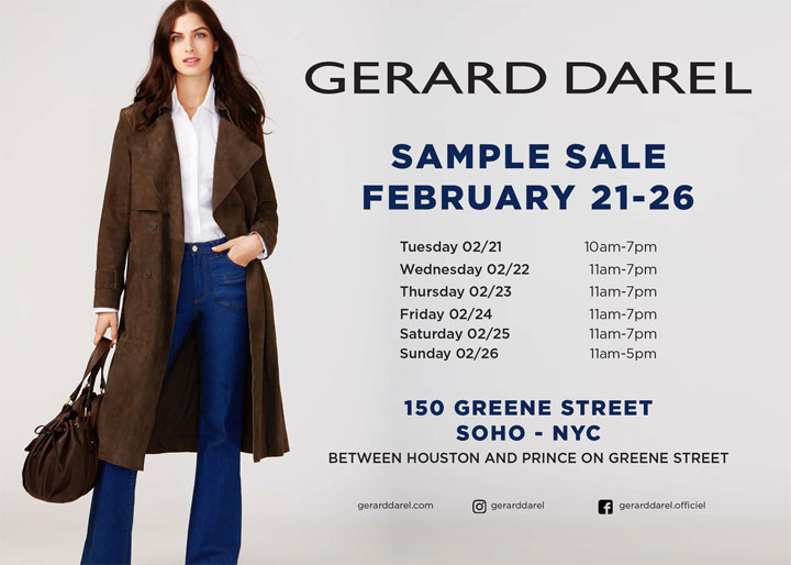 Gerard Darel Sample Sale