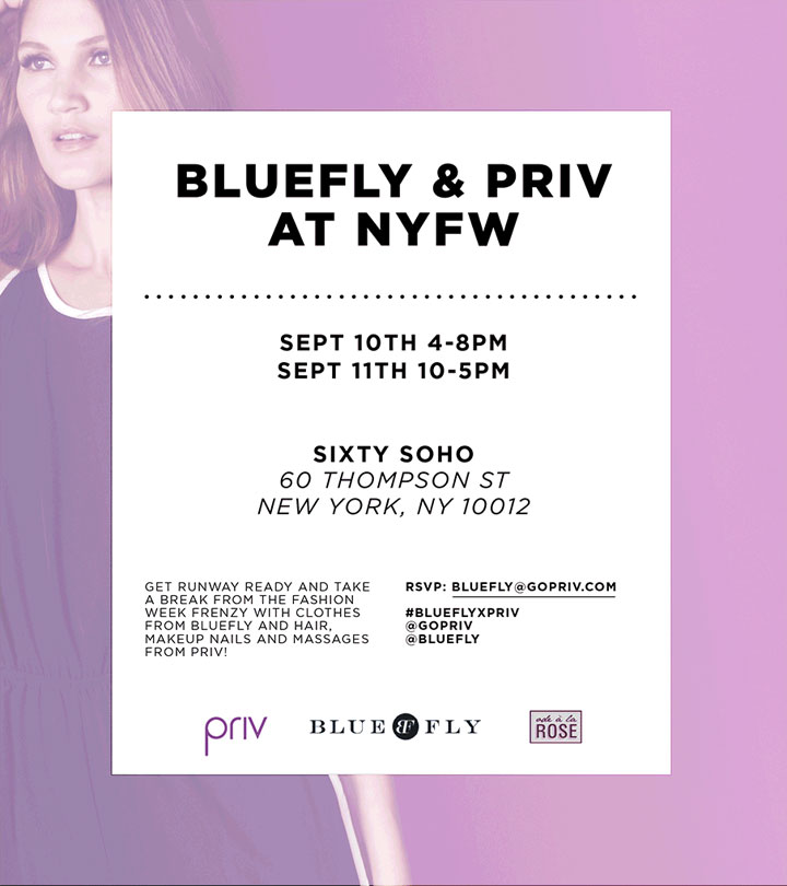 Get runway ready with PRIV and Bluefly
