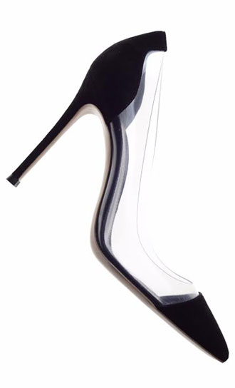 Gianvitto Rossi classic black suede pump with plexi clear sides: $274 (orig. $685)
