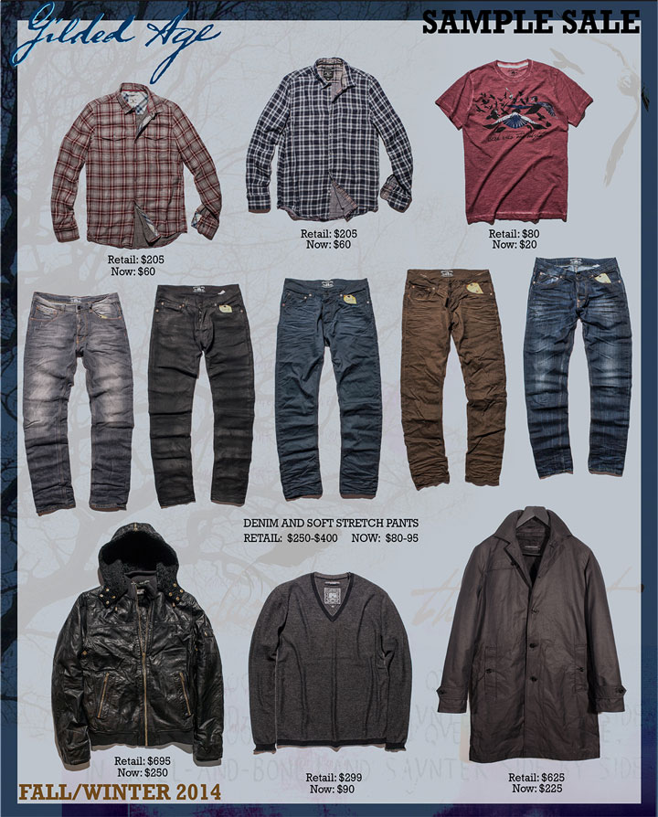 Gilded Age Fall/Winter 2014 Sample Sale