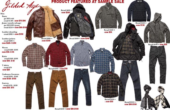 Gilded Age Grand Fall 2015 Sample Sale