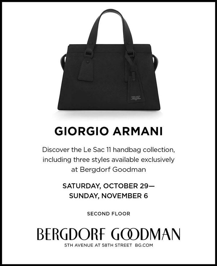 Giorgio Armani Trunk Show