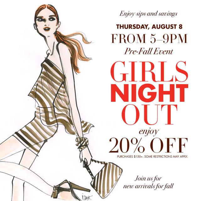 Girls Night Out at Henri Bendel