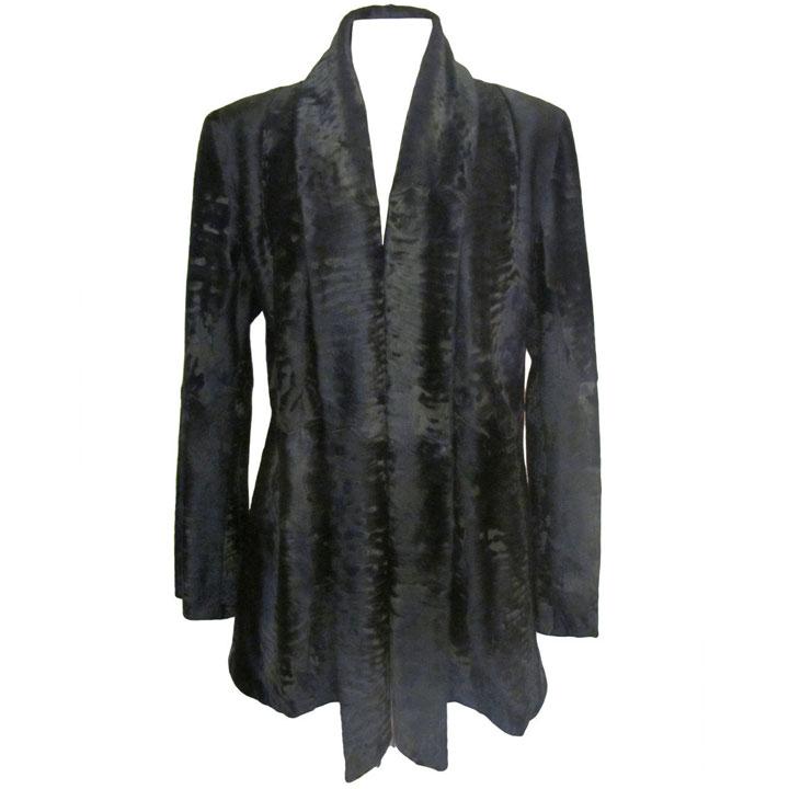 Giuliana Teso Black Broadtail Jacket $7900
