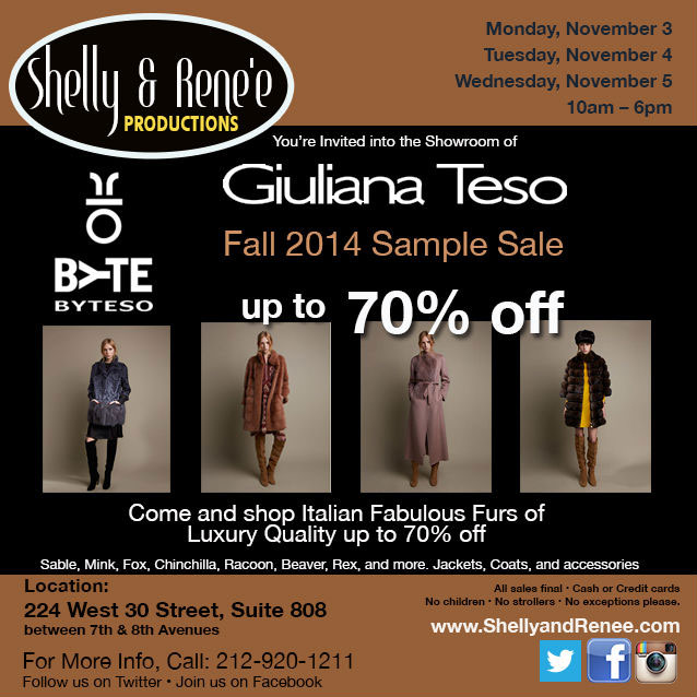 Giuliana Teso Fall 2014 Sample Sale