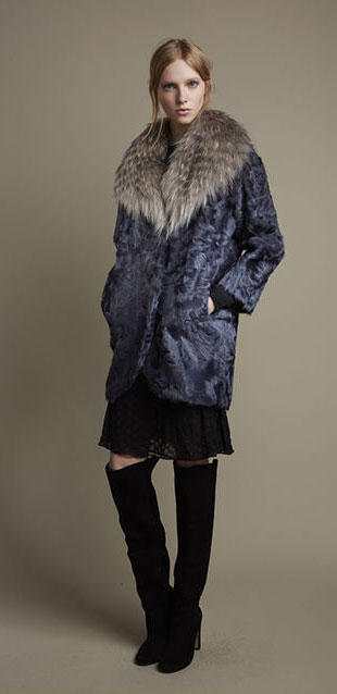Giuliana Teso Fur Coat Purple