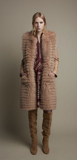 Giuliana Teso Long Fur Coat