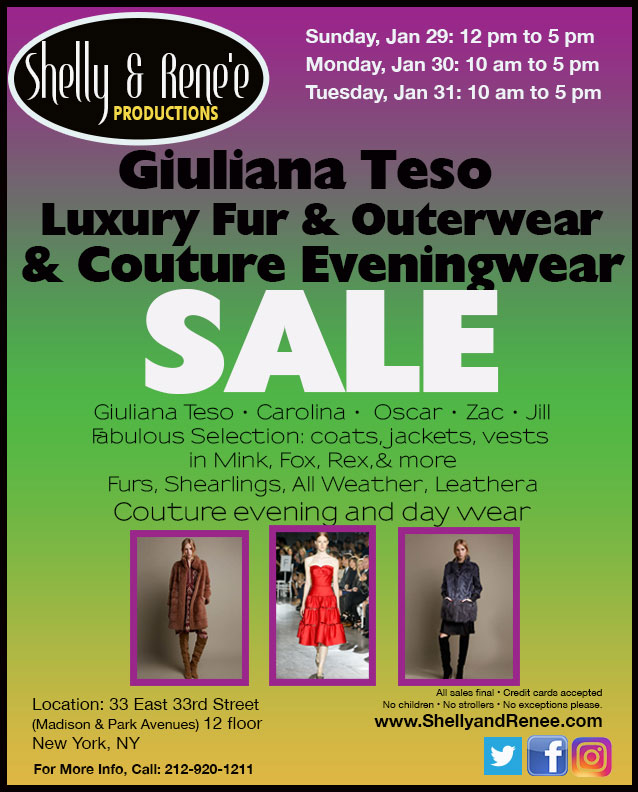 Giuliana Tesso Fur & Outwear Sample Sale