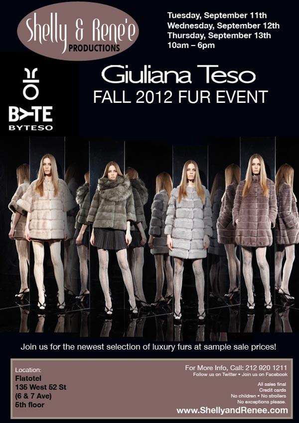 Giuliana Teso Fall 2012 Fur Sample Sale