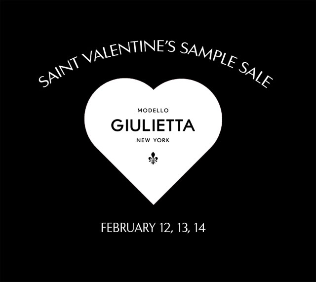 Giulietta Saint Valentine's Sample Sale
