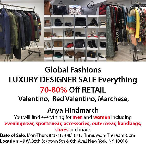 Global Fashions Sample Sale