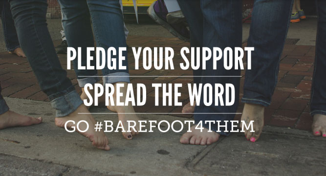 Go #Barefoot4Them and Fight Poverty