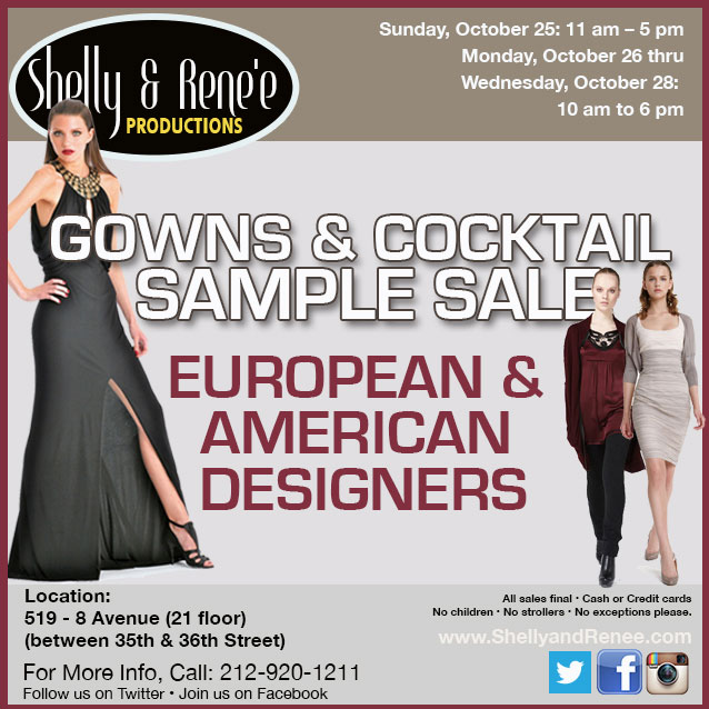 Gowns & Cocktail Sample Sale