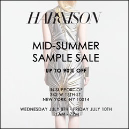 HARBISON Mid-Summer Sample Sale