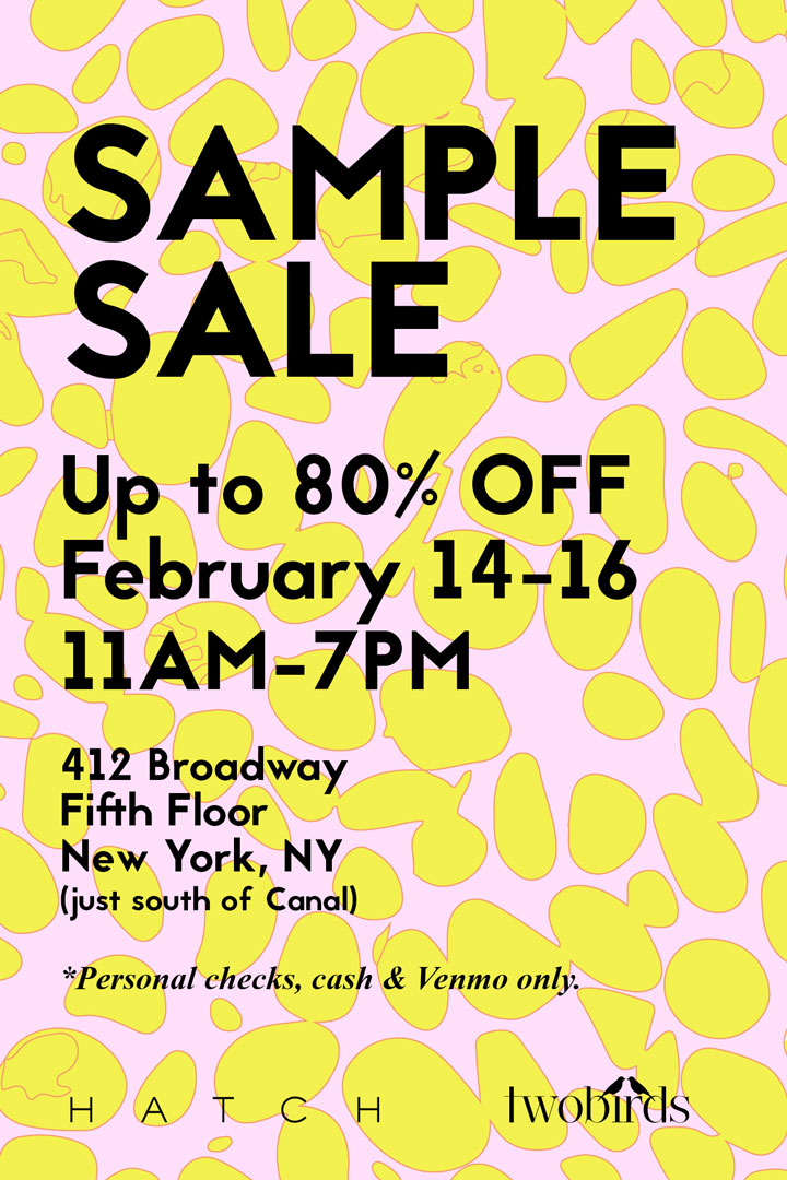 Hatch clothing new york sample sale for 120 broadway 5th floor new york ny 10271