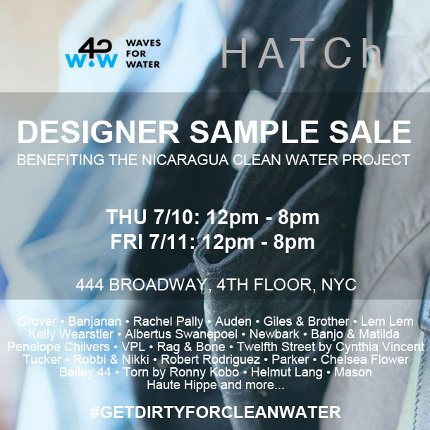 HATCh and Waves for Water Designer Sample Sale